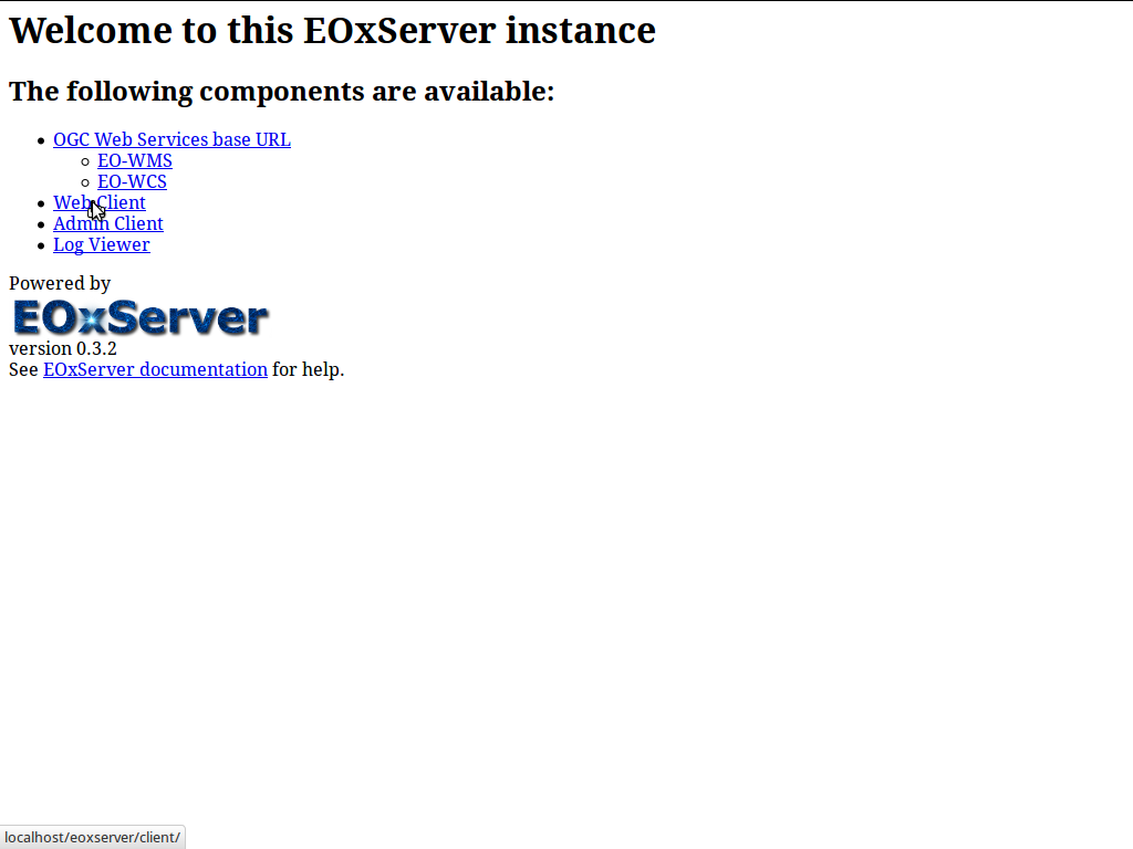EOxServer Quickstart — OSGeo-Live 7 9 Documentation